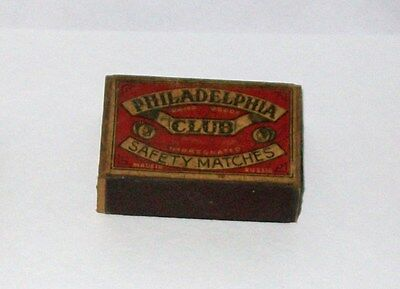 Philadelphia Club Safety Matches Made in Russia Matchbox Vintage SHIPS FREE