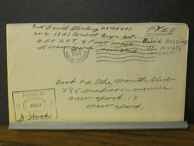 APO 229 SOUTHAMPTON, ENGLAND 1944 Censored WWII Army Cover 1343 Combat ENGR Bn
