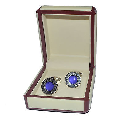 Art Deco Engraved Purple Grooms Brother Cufflinks EXCLUSIVE X2DLW007