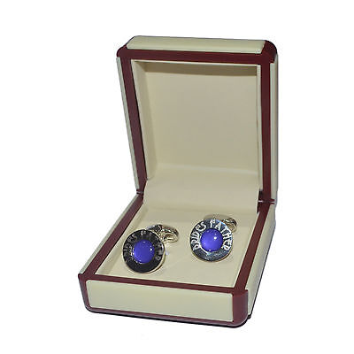 Art Deco Engraved Purple Brides Father Cufflinks EXCLUSIVE X2DLW004