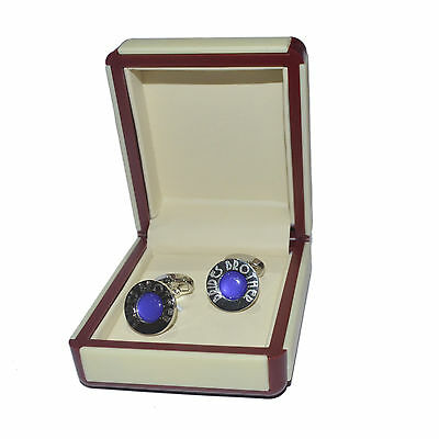 Art Deco Engraved Purple Brides Brother Cufflinks EXCLUSIVE X2DLW006