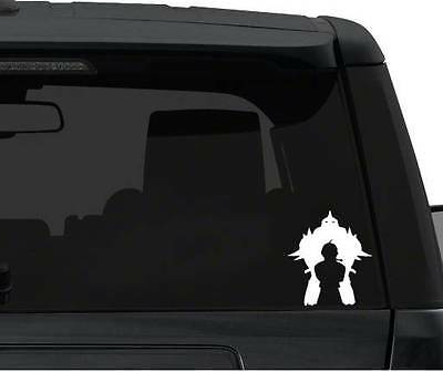 Full Metal Alchemist Ed and Al lean - Car Window / Bumper Anime Video Game Decal