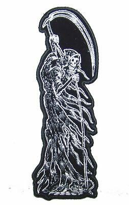 STANDING GRIM REAPER SLEEVE TALL PATCH P8180 NEW jacket BIKER EMBROIDERED IRONON