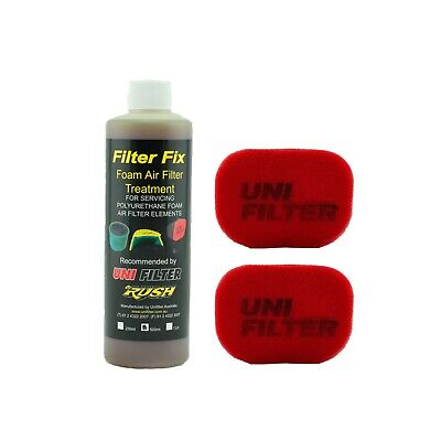 2 X UNIFILTER Safari Snorkel Ram Head (150Wx100H) Cover Pre Cleaner & Filter Oil