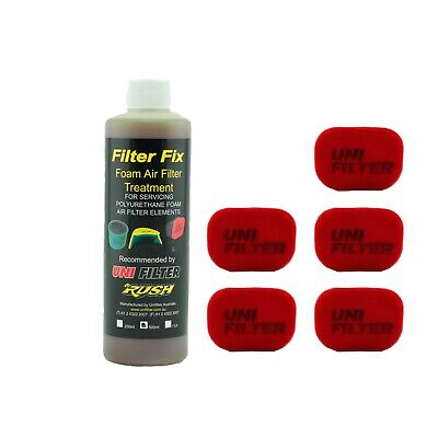 5 X UNIFILTER Safari Snorkel Ram Head (150Wx100H) Cover Pre Cleaner & Filter Oil