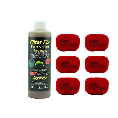 6 X UNIFILTER Safari Snorkel Ram Head (150Wx100H) Cover Pre Cleaner & Filter Oil