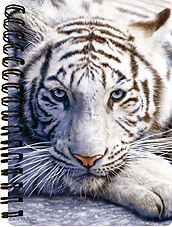 NEW 3D LiveLife WHITE TIGER REPOSE Jotter lenticular notebook