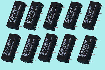 10pcs 12V Relay SIP-1A12 Reed Switch Relay 4PIN for PAN CHANG Relay