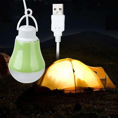 DC5V-3W Portable USB LED Bulb Lamp Laptop Reading Outdoor Camping Light 1M