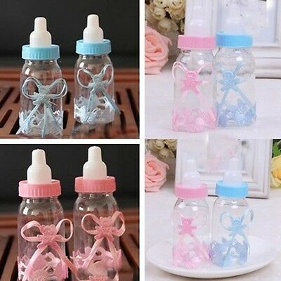 10pcs Baby Shower Candy Box Bottle Baptism Party Favours Christening Gift WUS