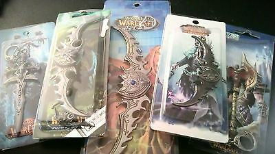 WoW Warcraft Keyring Chain Anime Illidan Lich King Horde Alliance New & Sealed
