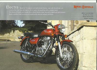 ROYAL ENFIELD ELECTRA SALES 'BROCHURE' SHEET 1990's???