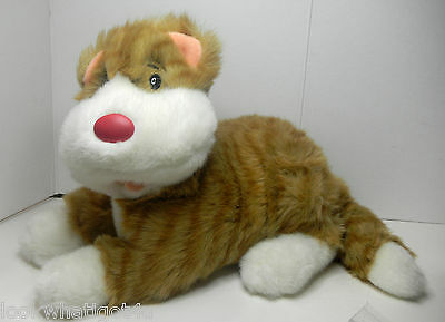 """Big Comfy Couch SNICKLEFRITZ plush cat large size 8 1/2""""h by 12""""L"""