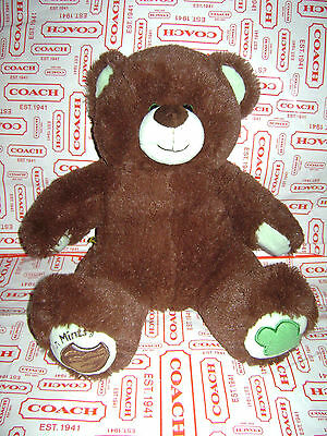 """BUILD A BEAR GIRL SCOUTS THIN MINTS BROWN 14"""" PLUSH STUFFED TOY VERY CUTE RARE"""