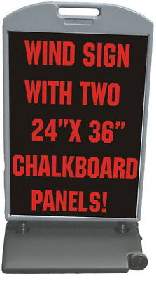 Deluxe Message Board Double Sided Sidewalk Wind Sign Sold By Neoplex