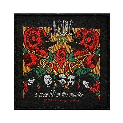 """Incubus: A Crow Left of the Murder"" Album Art Rock Band Sew On Applique Patch"
