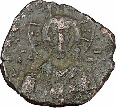 JESUS CHRIST Class A1 Anonymous Ancient 969AD Byzantine Follis Coin i48462