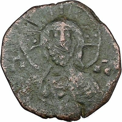 JESUS CHRIST Class A1 Anonymous Ancient 969AD Byzantine Follis Coin i48463