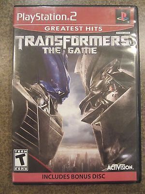 TRANSFORMERS THE GAME [GREATEST HITS]  (PS2, 2007)  PLAYSTATION 2