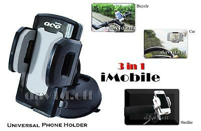 3in1 Universal Bicycle Pram Stroller GPS MP3 PDA Car Phone Holder iPhone Samsung