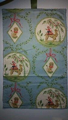 Handmade Baby Diaper Changing Roll Pad Mat Pale Blue Green Ivory Chenille Animal