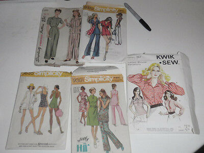 """Lot of 6  Vintage SEWING PATTERNS Butterick McCall Simplicity wmns 60""""s-70""""s #8"""