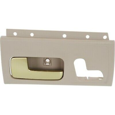 Door Handle For 2003-2011 Lincoln Town Car Front Left Beige w/ Chrome/Gold Lever
