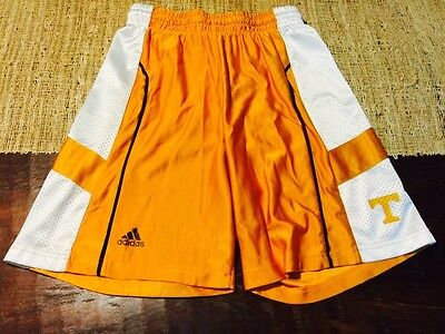 Orange & White University Of Tennessee Volunteers Adidas Basketball Shorts Sz M