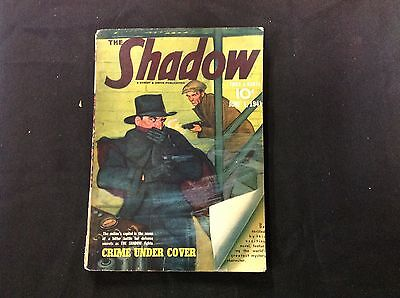 "June 1' 1941 ""The Shadow"" Pulp Magazine ""Crime under Cover"" fine crimefighter"