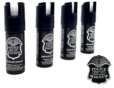 4 Police Magnum pepper spray 1/2oz GID actuator self defense security protection