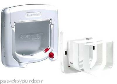 Staywell Petsafe 300 cat flap / pet door 4 way upvc catflap 300EF and Tunnels