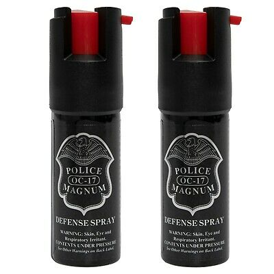 2 Police Magnum mace pepper spray .50oz unit personal self defense protection