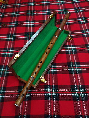 TC Professional D Flute Rosewood Natural Finish/Rose Wood Flute with Wooden Box