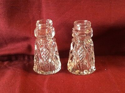 American Brilliant Cut Glass Salt and Pepper Shakers