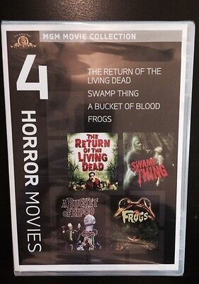 Bucket of Blood /Frogs / Return of the Living Dead / Swamp Thing (DVD).
