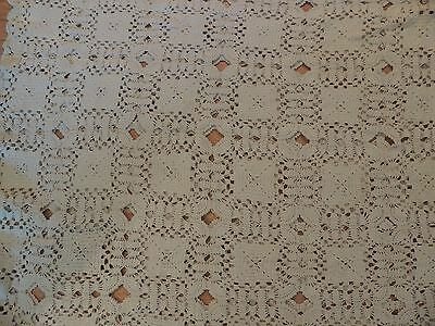 Hand Crochet Tablecloth or Bedspread Hand Made  PATTERN Throw LARGE