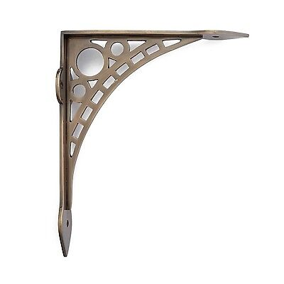 Naiture Solid Brass Wall Mount Shelf Bracket In 2 Sizes and 6 Finishes