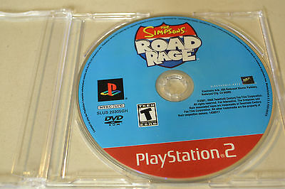 The Simpsons Road Rage  (Sony PlayStation 2, 2001)Disc Only