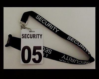 5 x Security, Guard, Crowd Control, Lanyard with Crowd Controller number