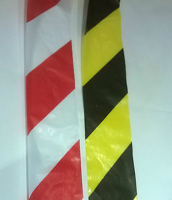 Barrier Tape Hazard Warning Non Adhesive Red&White Black&Yellow 70mm Flat Packed