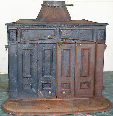 Ben Franklin Cast Iron Wood Burning Stove Heater Fireplace Antique Vintage Style