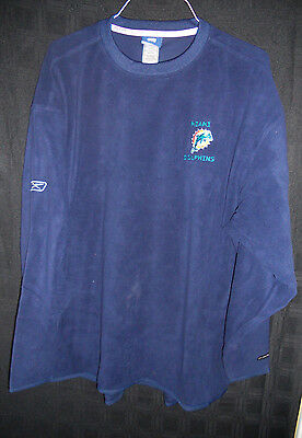 MIAMI DOLPHINS GAME USED NAVY BLUE REEBOK SOFT FLEECE / SWEATER ALL SIZES! SALE!