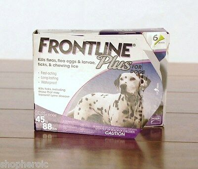 Frontline Plus for Large Dogs 45-88 Pounds Lbs 6 Month Supply Six Applicators
