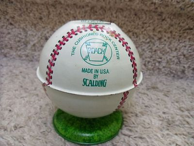 Vintage Chein Metal Baseball Bank with stopper. Roach, Scalding.