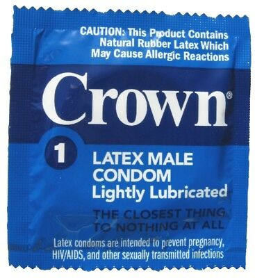 Crown Skinless Skin Condoms - The Thinnest Latex Condoms (2-72 pack)
