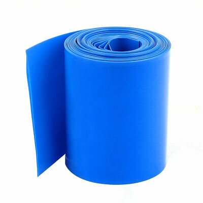 10M 33Ft Long 64mm Blue PVC Heat Shrinkable Tubing Wrap for AA Battery Pack