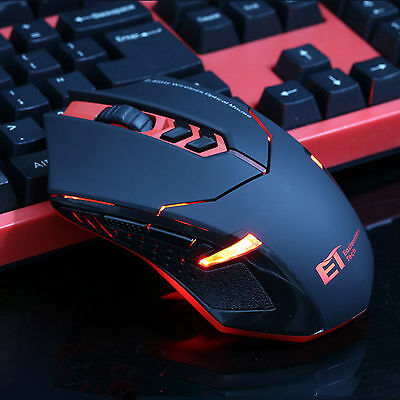 ET X-08 2.4Ghz 2000DPI PC Laptop Professional Wireless Gaming Mouse Mice Red LED