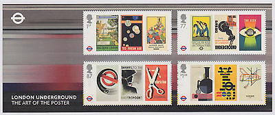 G B  2013 London Underground Mint Miniature Sheet  No. 94    as issued