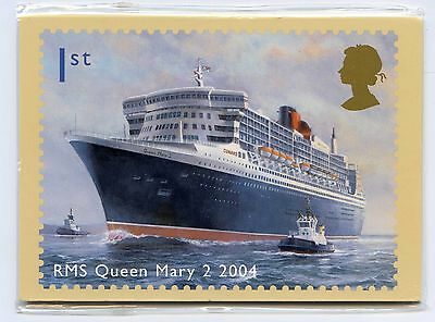 GB 2004  Ocean Liners   PHQ STAMP CARDS MINT (7)   Perfect