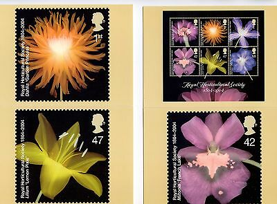 GB 2004   Royal Horticultural Society     PHQ STAMP CARDS MINT (7)   Perfect